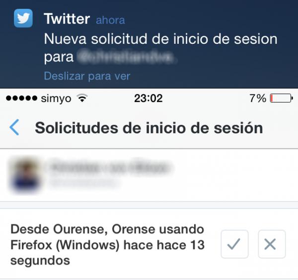Nueva Solicitud De Inicio De Sesion En Twitter Aviso En El Iphone 600x563 1