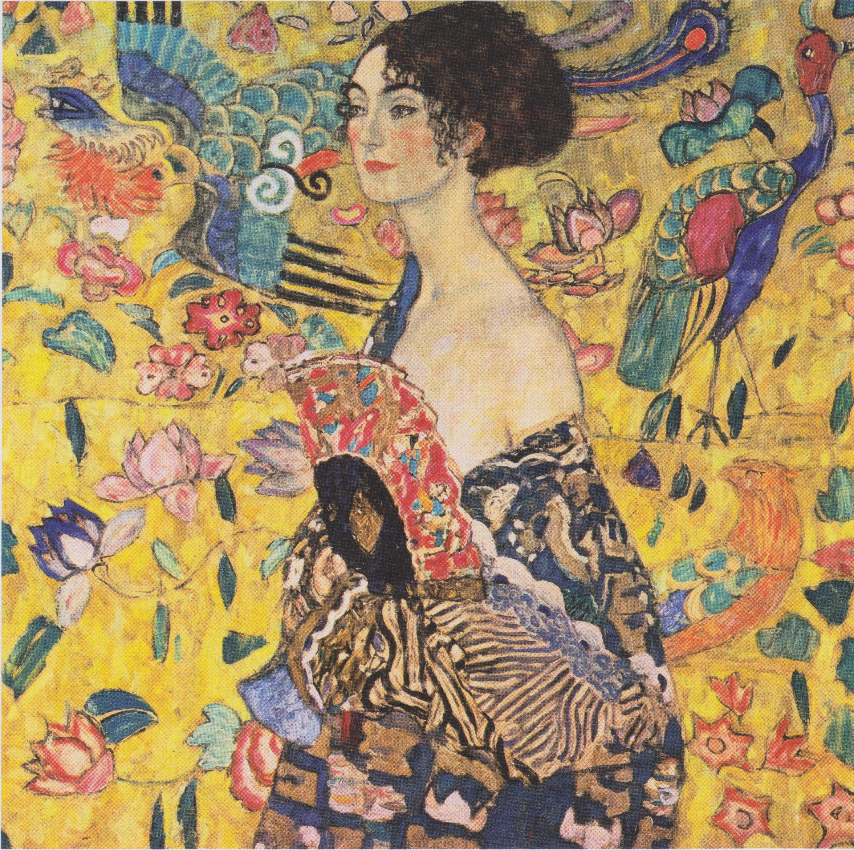 Lady With Fan Gustav Klimt Wikipaintings