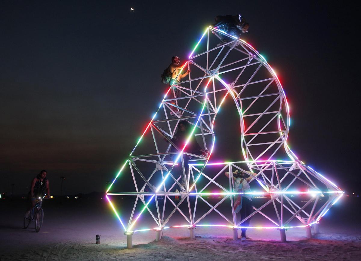 Glowing Art Installation