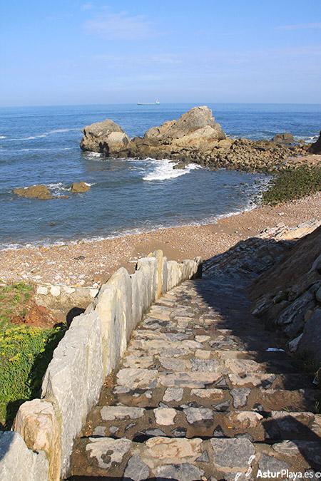 Stairs To El Cuerno Beach Asturias