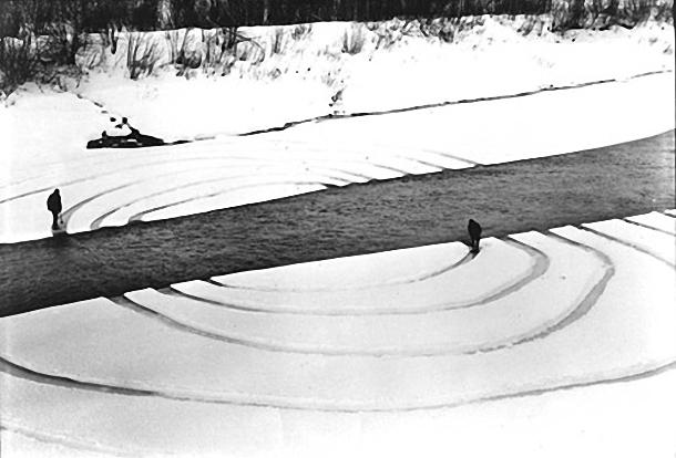 Dennis Oppenheim, Annual rings, 1968.