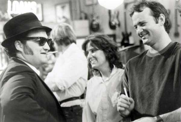 John Belushi And Bill Murray On The Set Of Blues Brothers