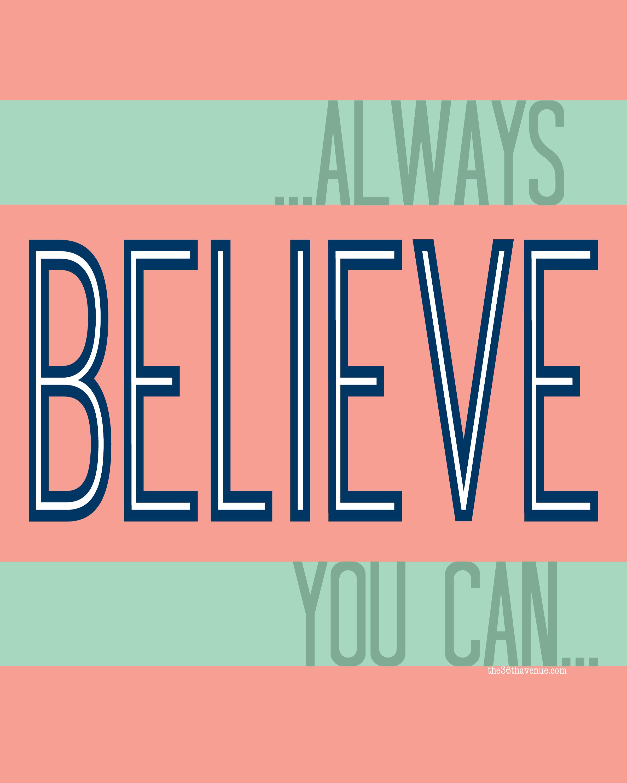 Resolutions Believe