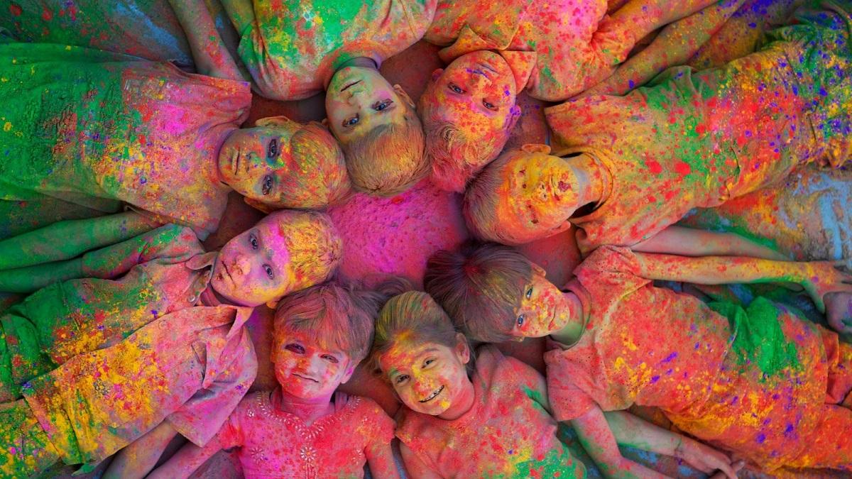 Cabecera Holi Party Festival Colores