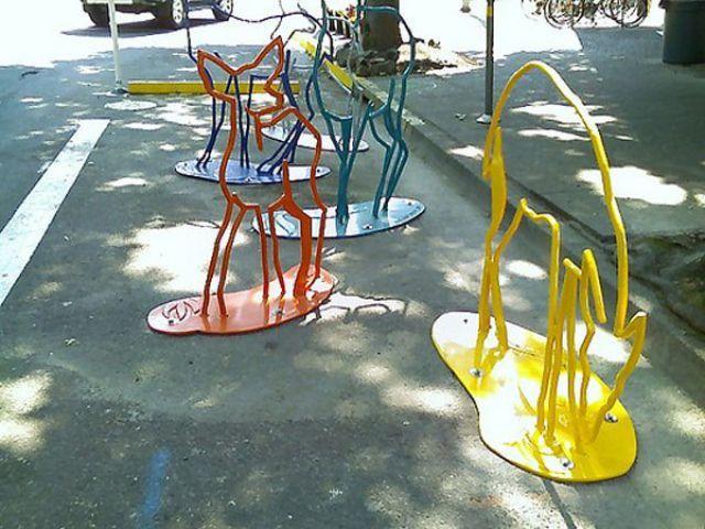 Originales Estacionamientos Para Bicicletas 13