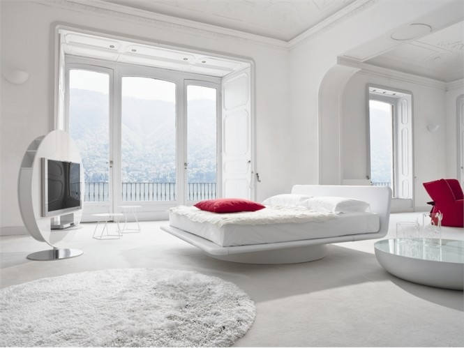 Luxury White Red Bedroom2 665x499