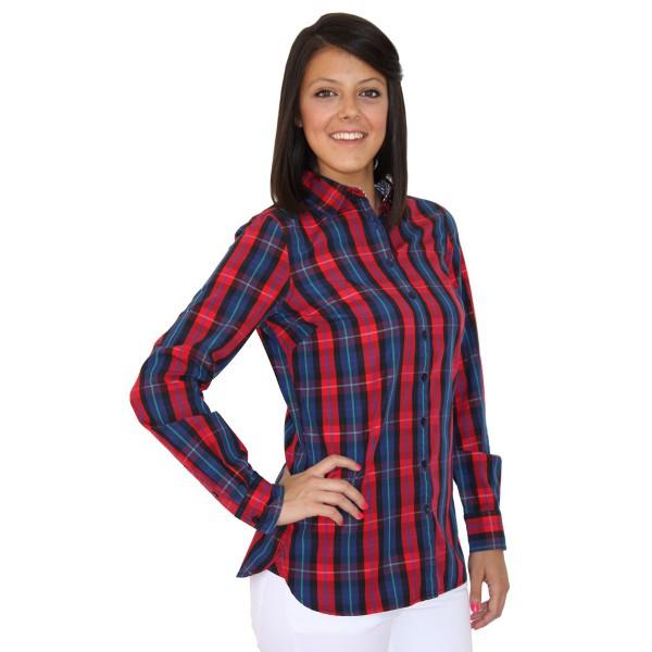 Camisa Mujer Tommy Hilfiger Estampado Beige