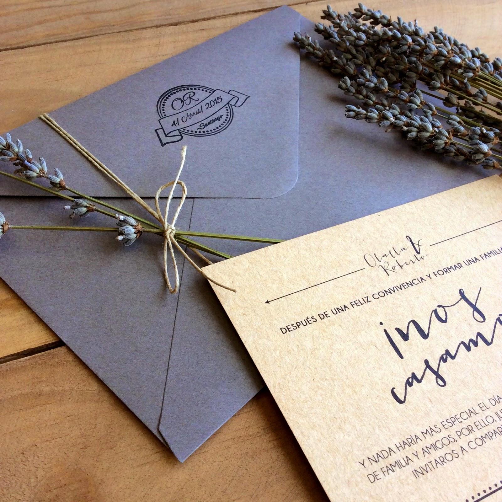 Invitaciones y sobres