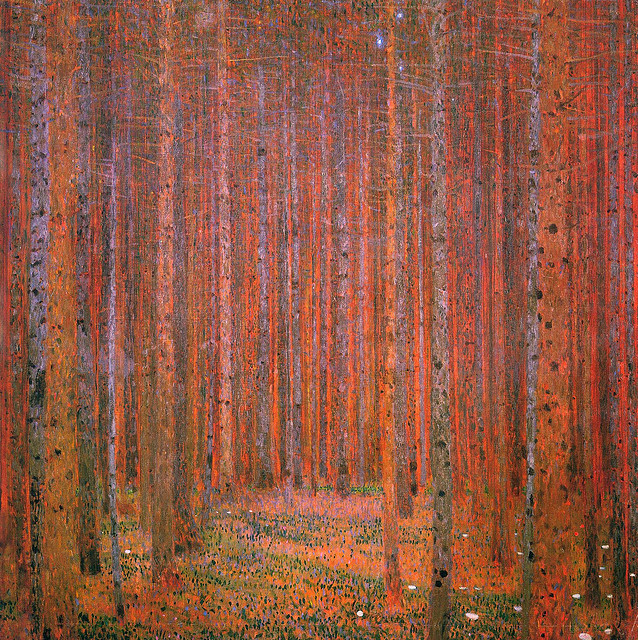 Gustav Klimt Tannenwald I