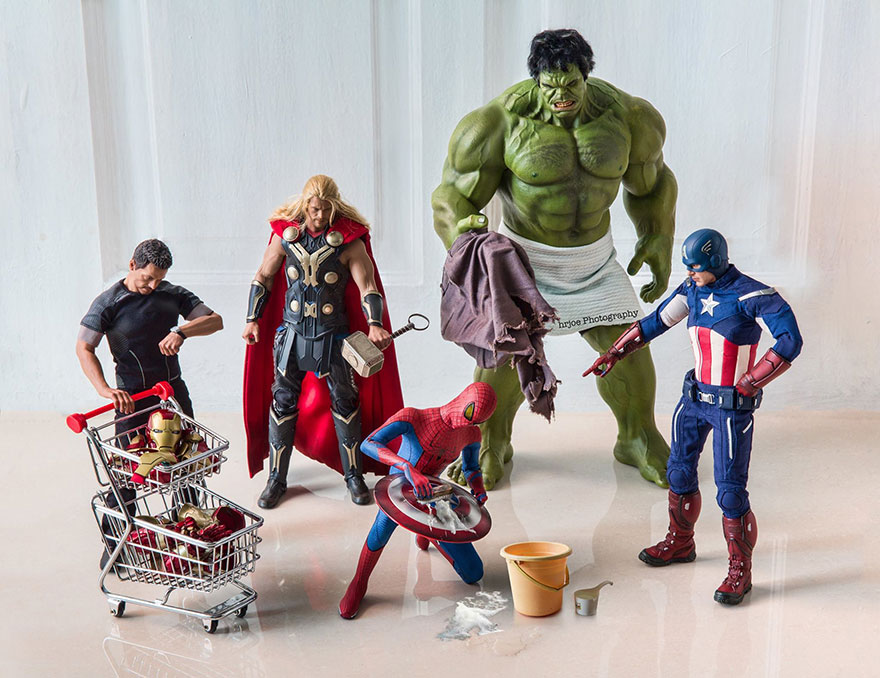 Superhero Action Figure Toys Photography Hrjoe 24
