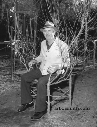 Axel Erlandson seating on Tree chair