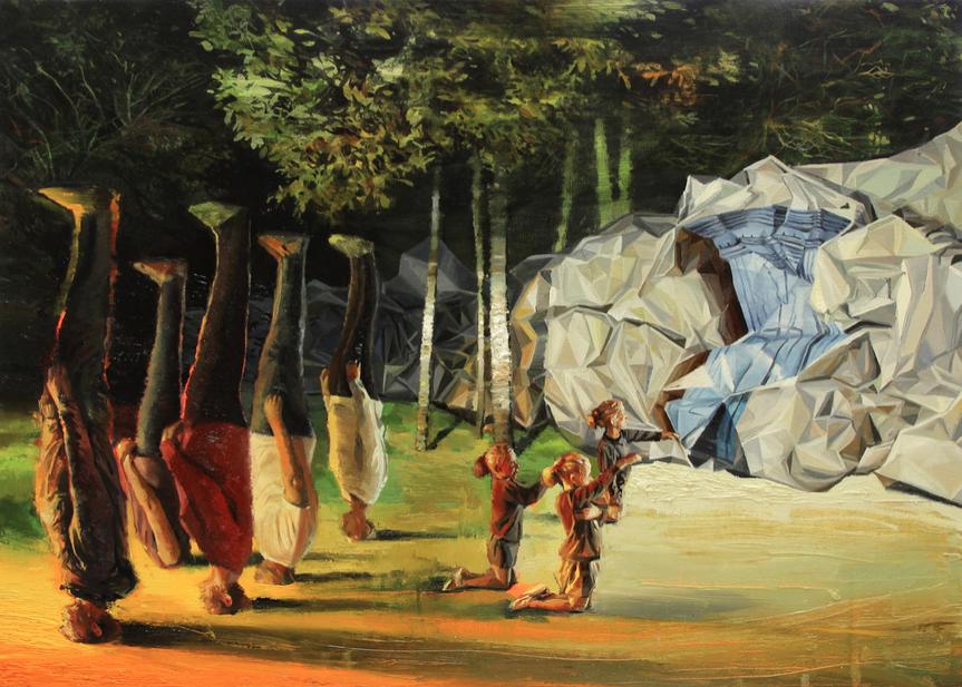 El Muro. Oil on canvas (50x70cm)