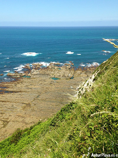 Albuerne Beach Cudillero Asturias Eastern Side