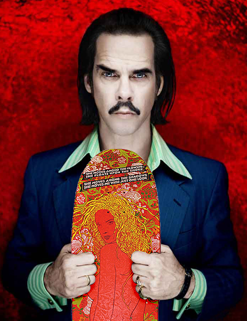 Nick Cave Rides on with Skateboard Collection