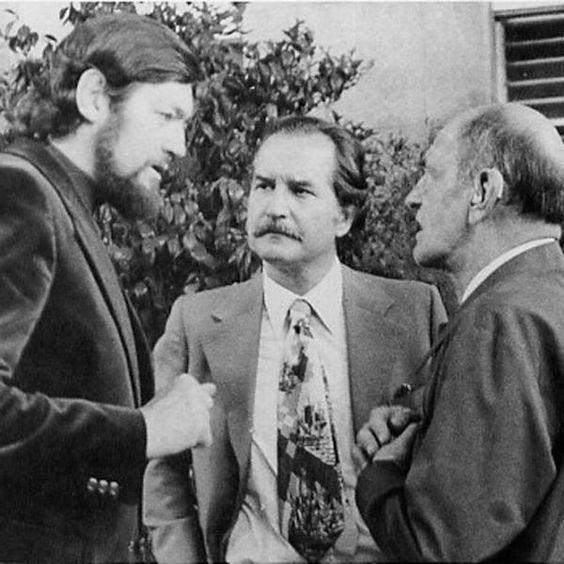 Julio Cortazar, Carlos Fuentes y Luis Buñuel.