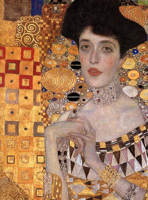 Gustav Klimt Adele Bloch Bauer I Detail