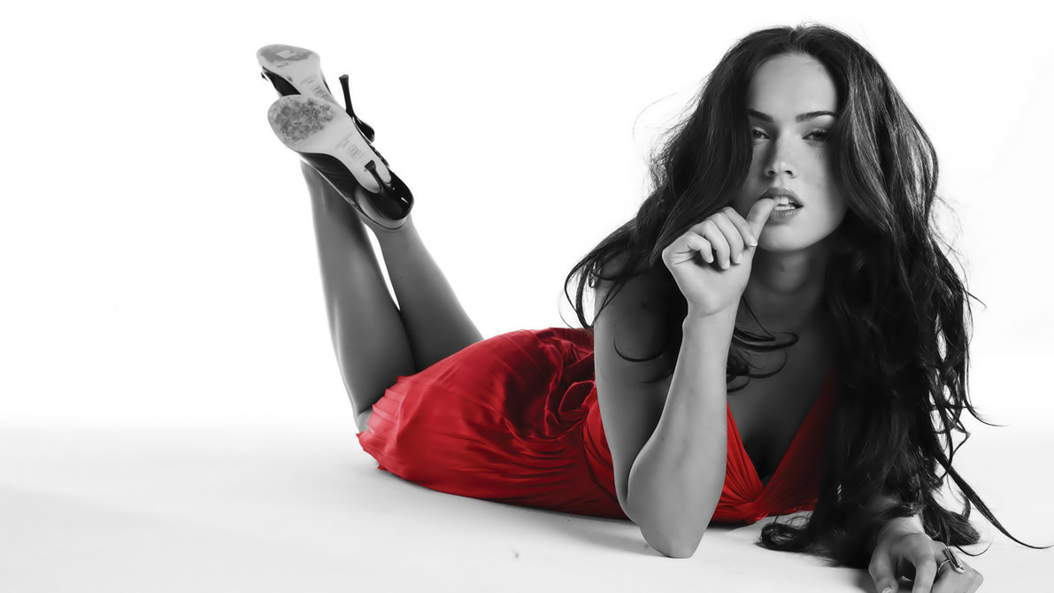Megan Fox Wall Lady In Red By M4rios
