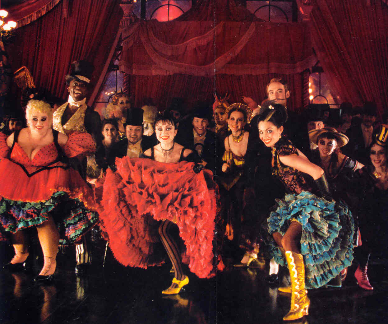 Bailarines Cancan Mouline Rouge