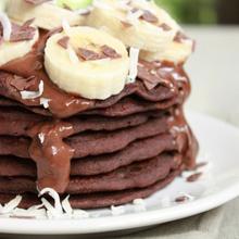 Pancakes à la farine de sarrasin, cacao
