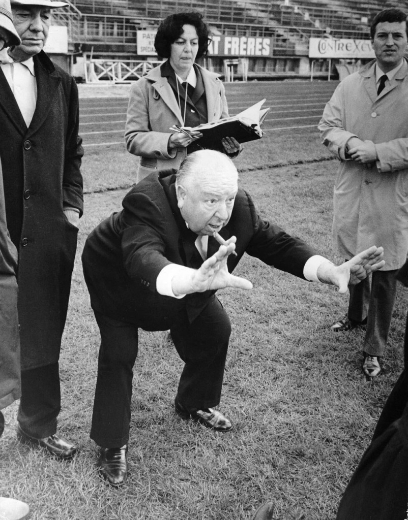 Alfred Hitchcock On The Set Of Topaz 1969