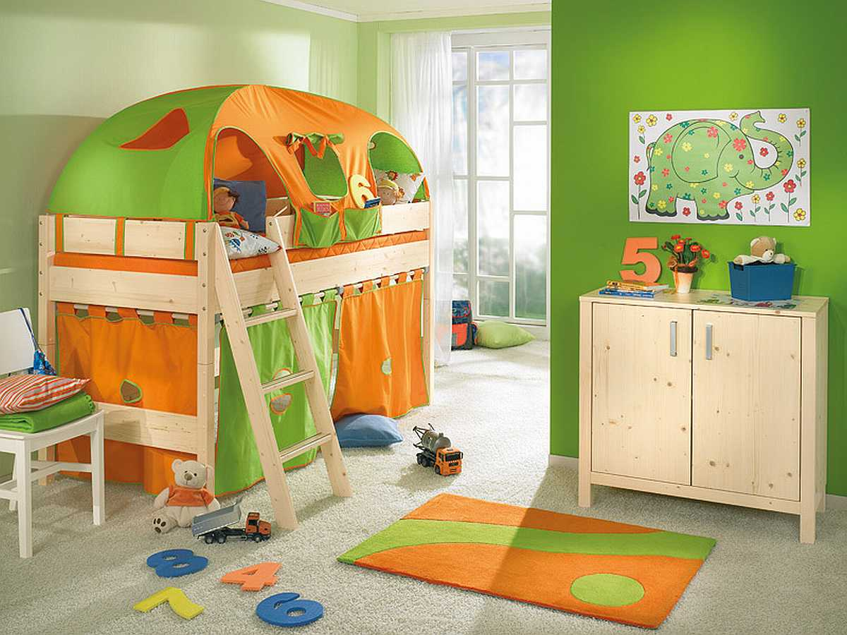 7ccc1  Green Funny Play Beds Small Kids Room For 2013 Design Guide