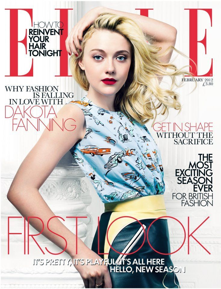 Elle Magazine Cover 2012 Dakota Fanning 28154828 734 960