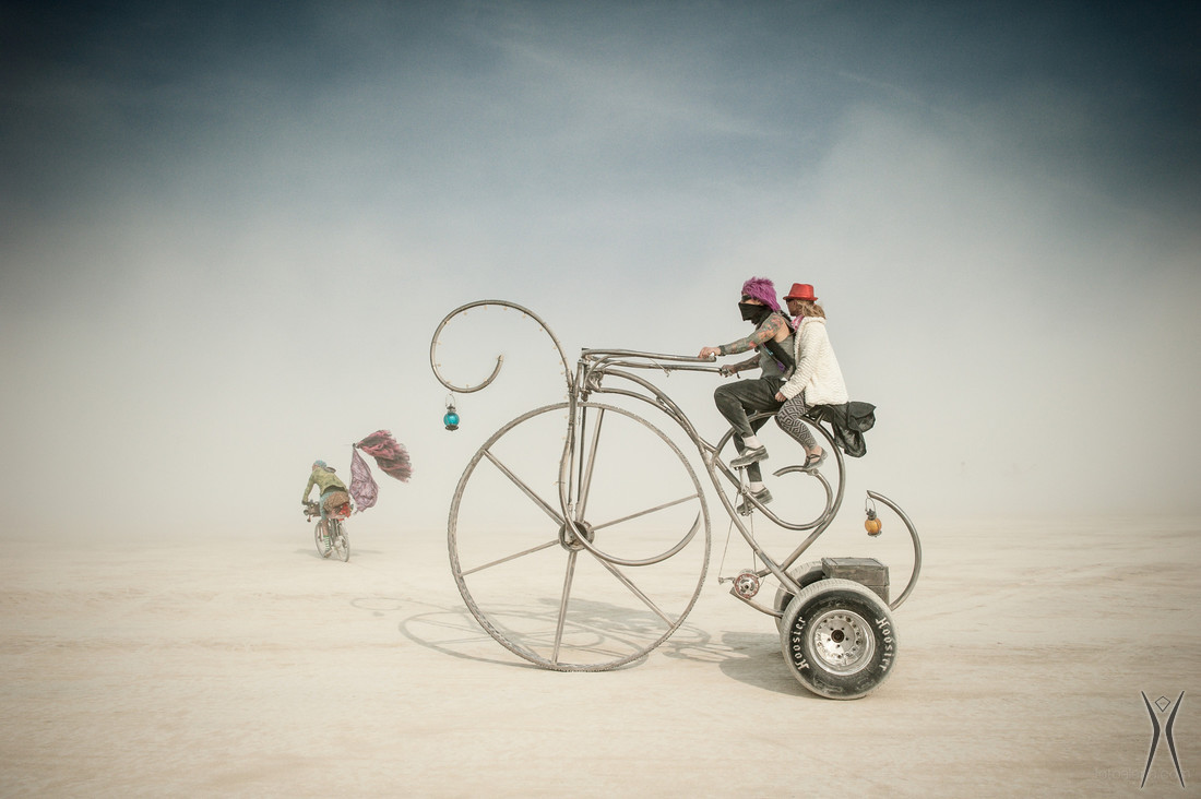 Bikes on the playa.