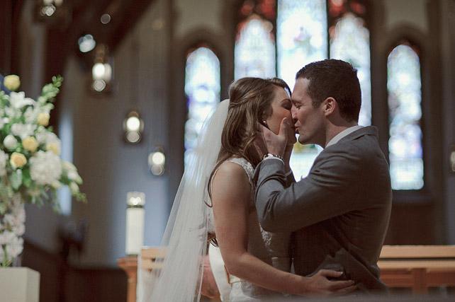 El primer beso como marido y mujer