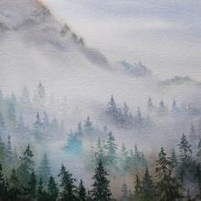 Cómo pintar un paisaje con acuarela IV