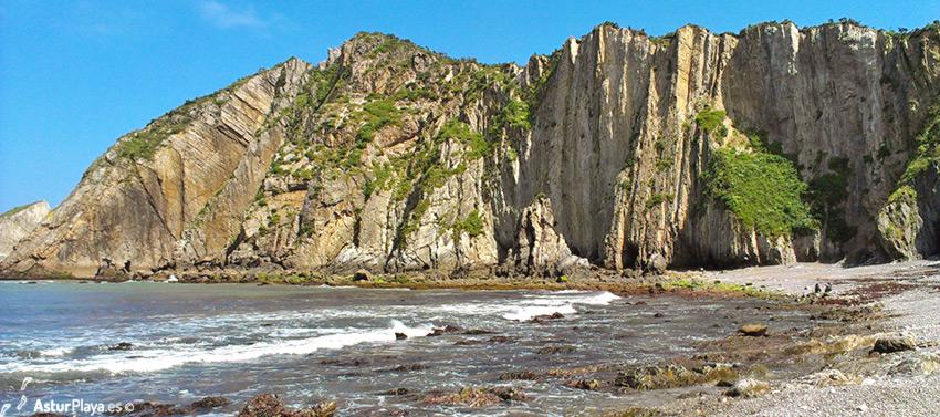 Del Silencio Beach Cudillero Cliffs From Below