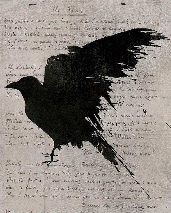 Le Poème corbeau -  l'art gothique  - Edgar Allan Poe