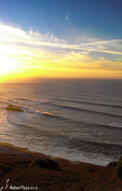 Sunset At Cueva Beach Cudillero
