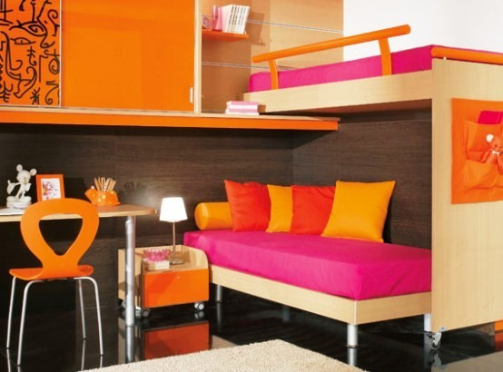 Inspiring Colorful Kids Room With Bunkbed