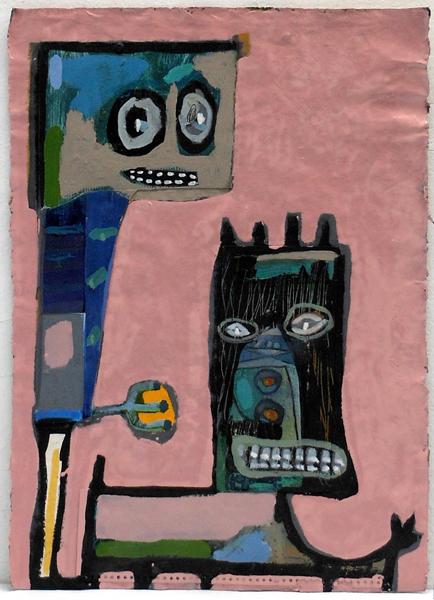 Perrus. Pintura sobre papel. (53x74cm)