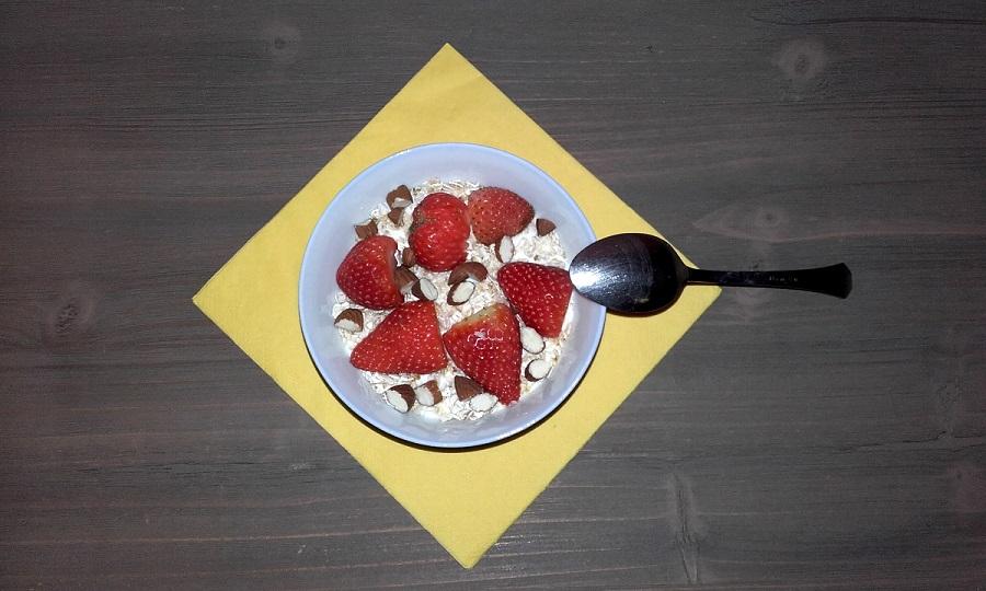 Postres Yogurt Fresas Avena