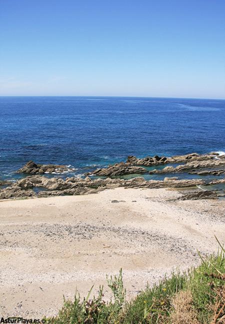 Arra Beach Seen From Above Asturias