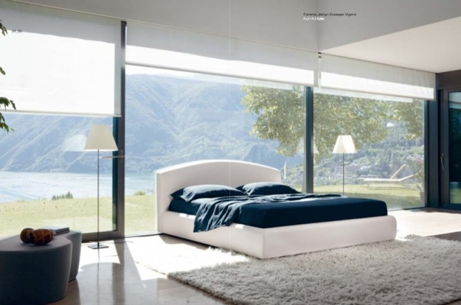 Luxury White Blue Bedroom 665x440