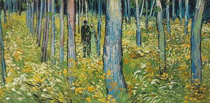 Vincent Van Gogh A Couple Walking In The Forest