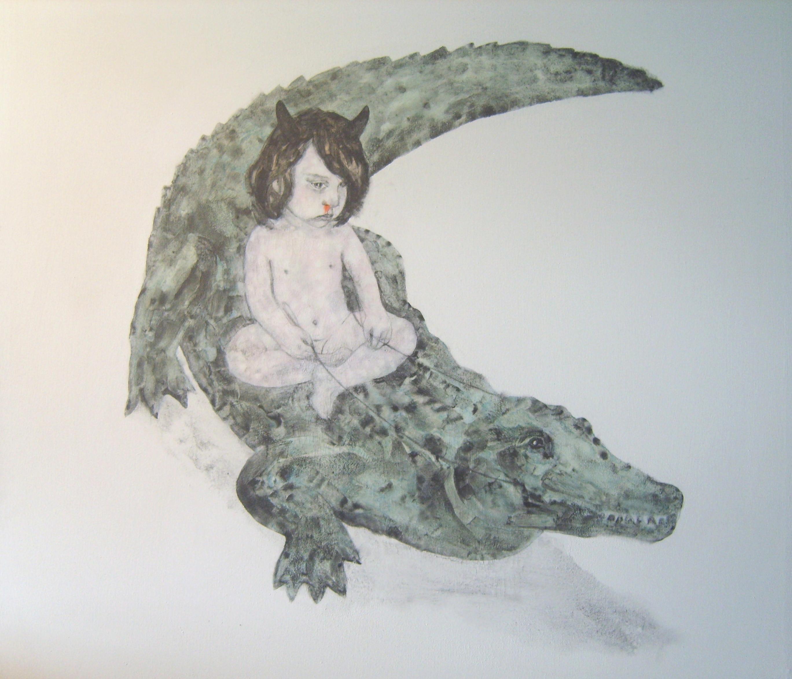 Insomnia 12. Tinta y grafito sobre lienzo (100x100cm)