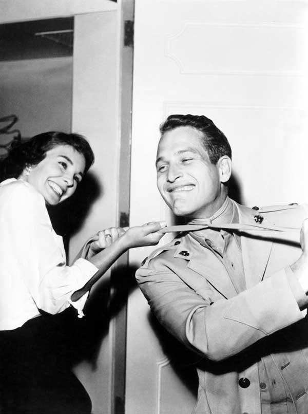 Jean Simmons And Paul Newman On The Set Of Until They Sail