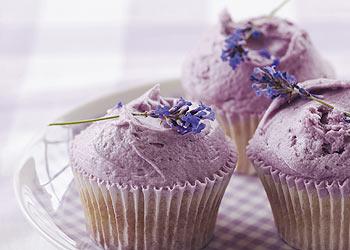 Cupcakes con lavanda