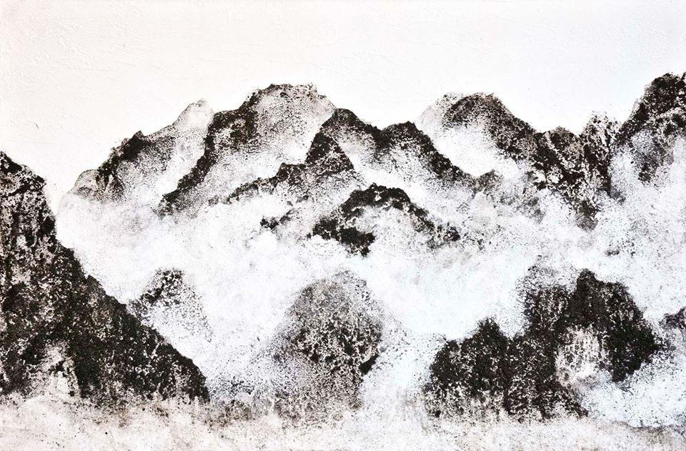 """""""Mist"""". Proyecto tierra y agua (90x60 cm)."""
