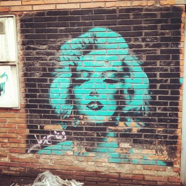Marilyn Streetart Arteenlacalle Gijon Asturias