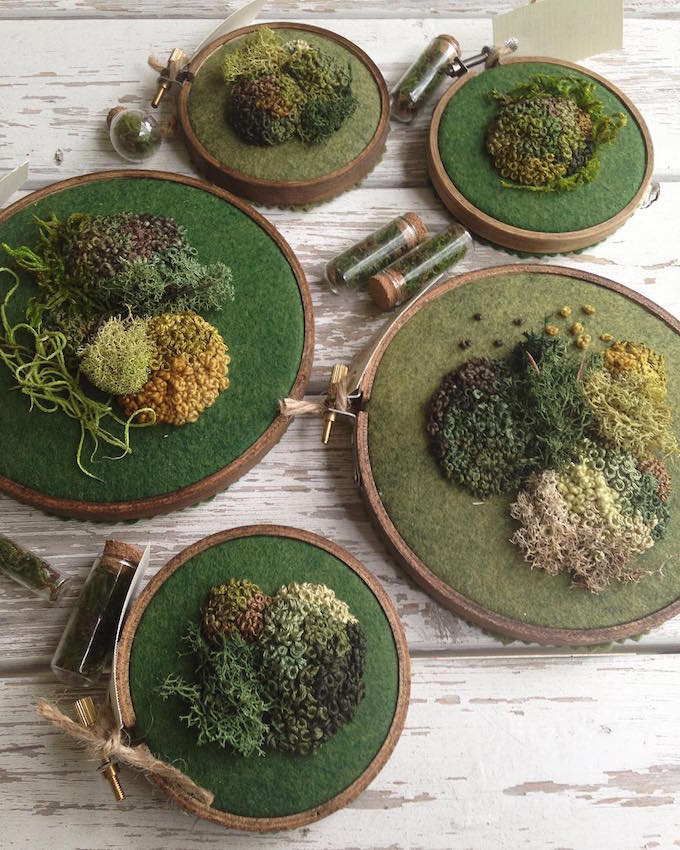 Emma Mattsons Embroideries Pay Homage To Moss