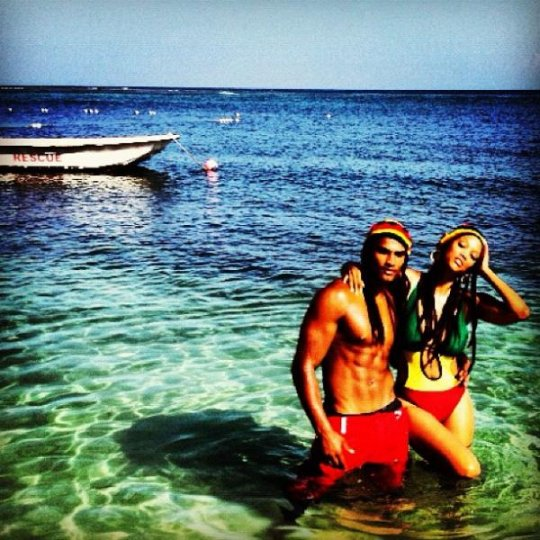 Tyra Rob Evans In Jamaica