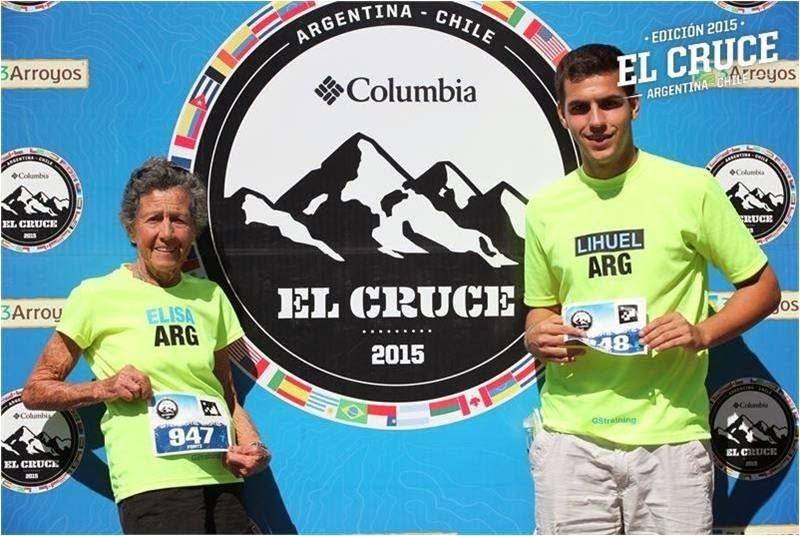 Elisa Forti Y Su Nieto Horas Antes De Correr La Marat N Cruce De Los Andes 2015