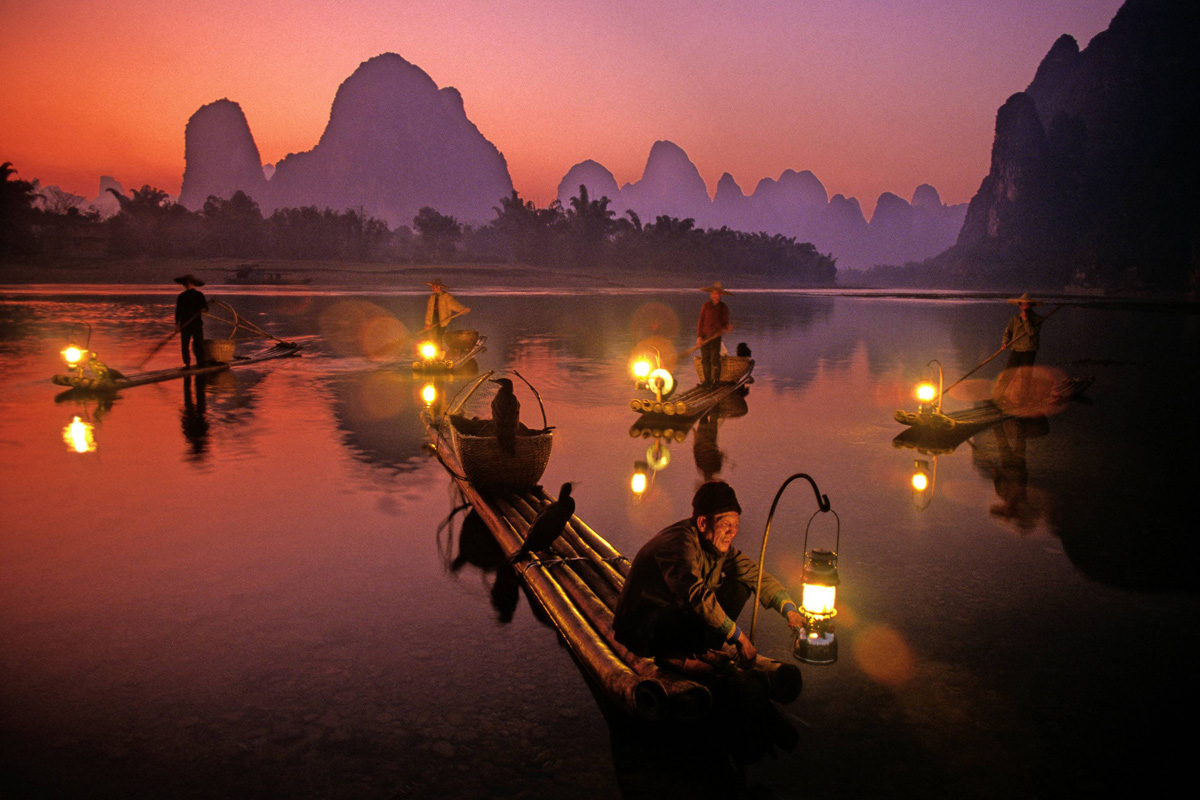 Pesca nocturna en Río Li