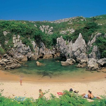 Gulpiyuri Beach in Llanes - Asturias
