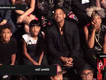 Will Smiths Familys Amazing Vma Reactions Were Actually To Lady Gaga Not Miley Cyrus