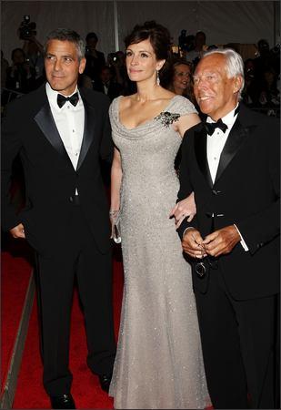 Costume Institute Gala George Clooney And Julia Roberts